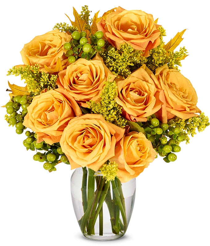Oak and Fall Roses - Deluxe