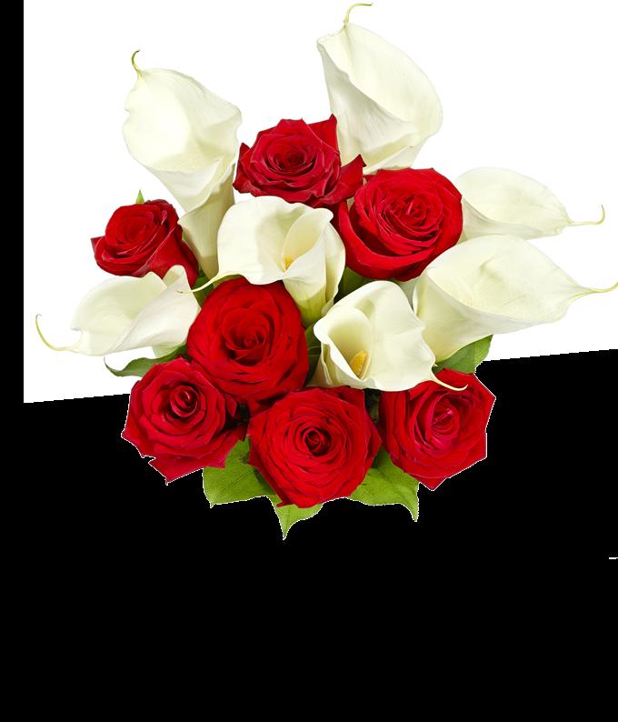 Premium Red Rose & Calla Lily Bouquet