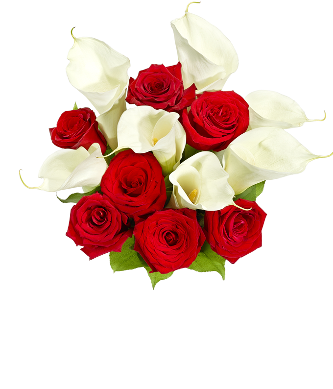 Premium Red Rose & Calla Lily Bouquet