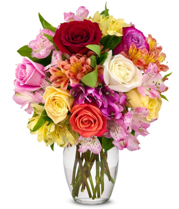 Roses & Alstros Bouquet - Regular