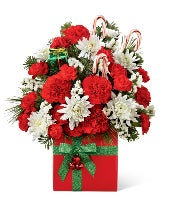 Christmas bouquet with candy canes
