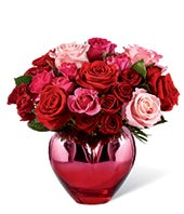 Metallic Heart Bouquet