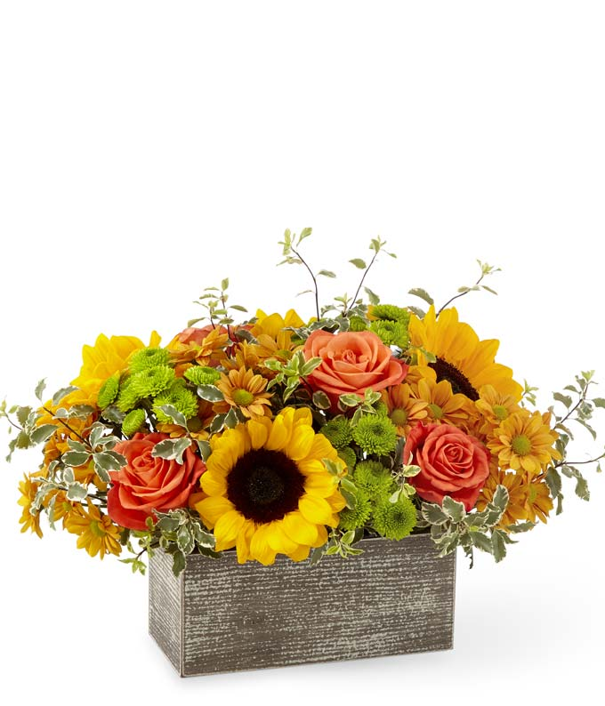 Modern Fall flower arrangement