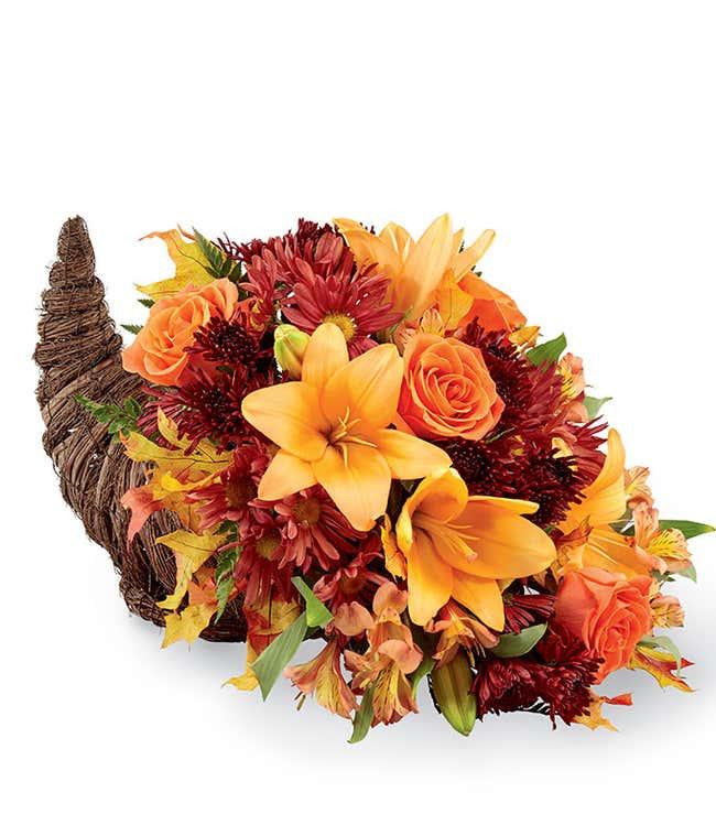 Thanksgiving Flower Cornucopia