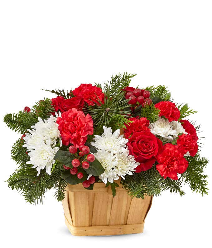 Good Tidings Evergreen Basket
