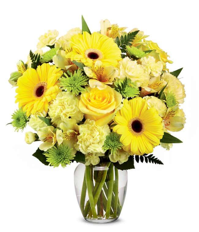 Bursting Yellow Bouquet