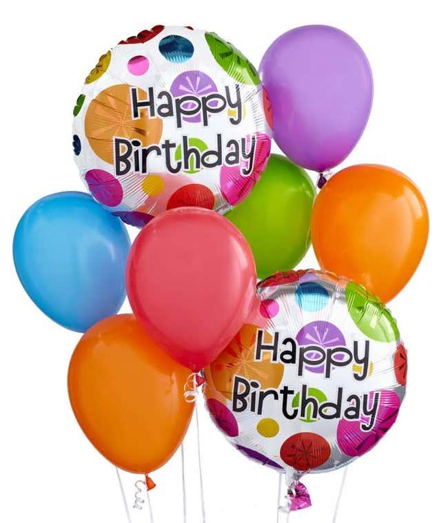 Happy Birthday balloon arrangement