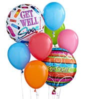 Get well latex and mylar balloons