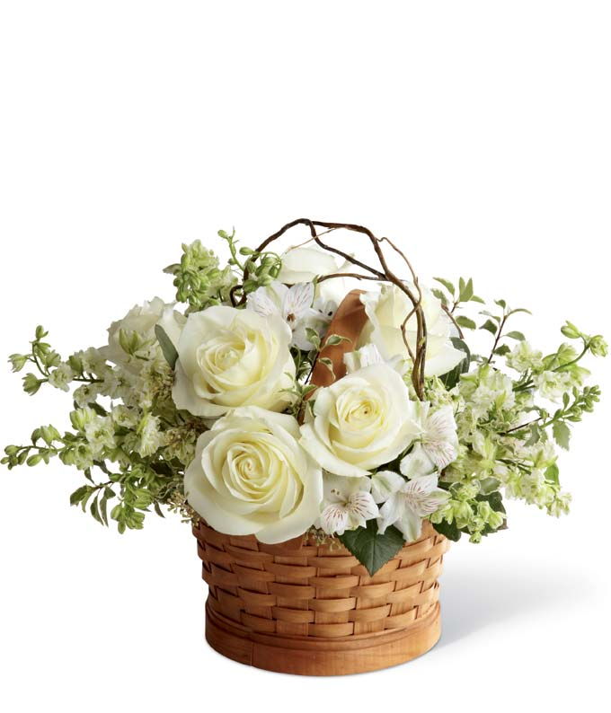 The Peaceful White Basket