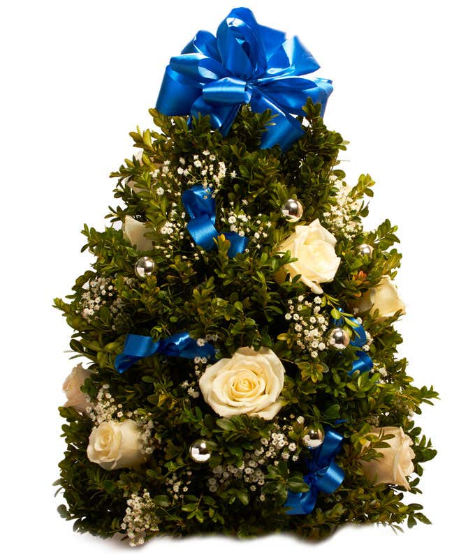 Blue themed Mini Christmas tree delivery