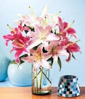 Summerburst Lilies Arrangement