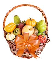 Harvest Fruit Basket with basket