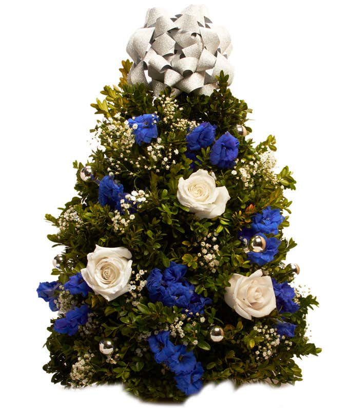 Christmas Flower Tree with Blue features