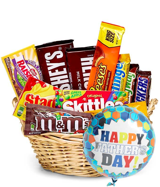 Father's Day Candy & Balloon Basket