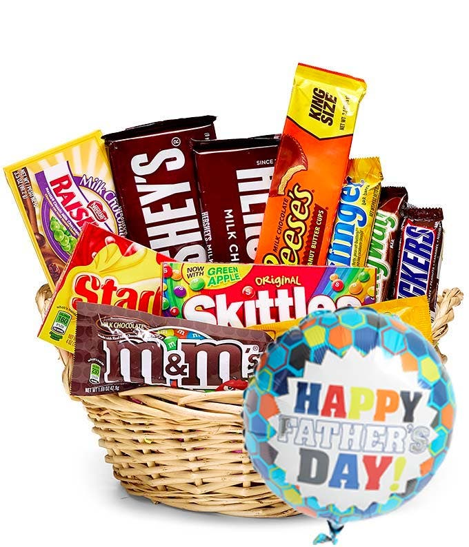 Fathers Day Candy Balloon Basket