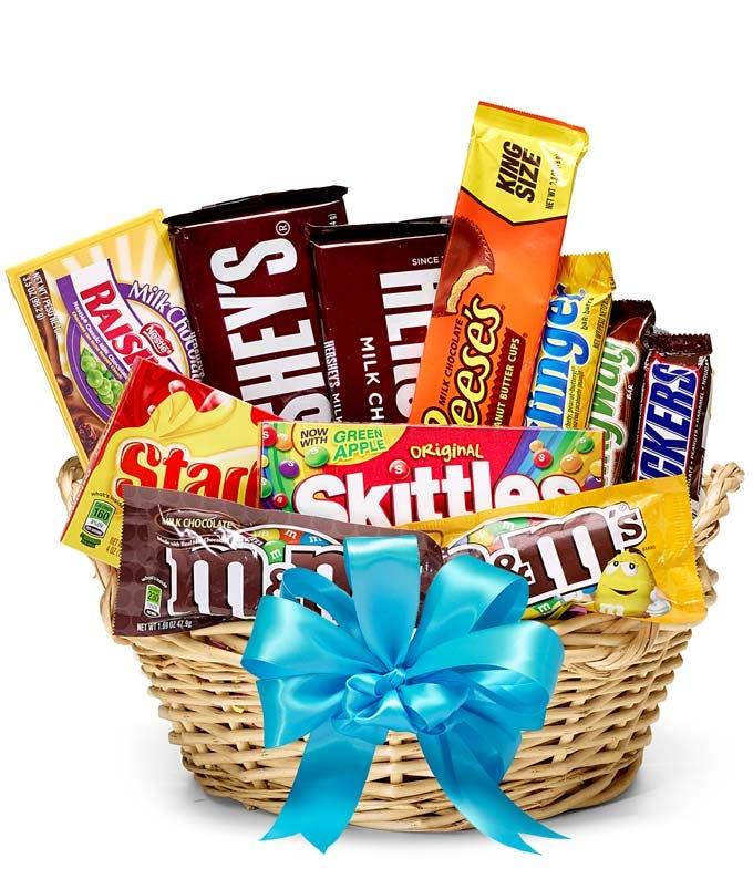 Blue Ribbon Candy Basket