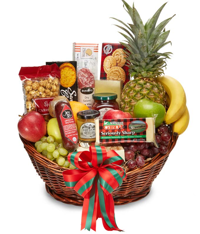 Gourmet Christmas Fruit & Snack Basket