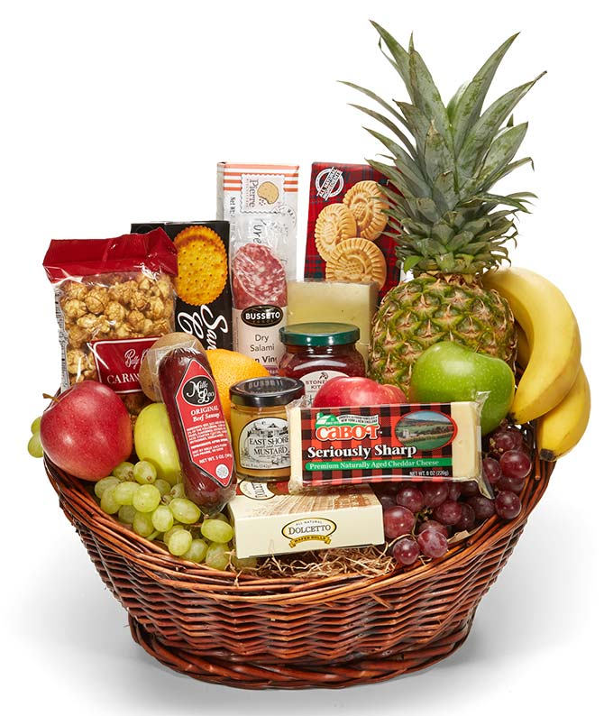 Abundant Gourmet and Fruit Basket