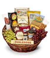 Fruit, Dried Meat and Cheese Gift