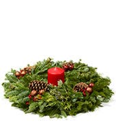 Table christmas wreath