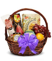 Lavender Bliss Fruit and Gourmet Gift Basket