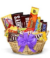 Candy Basket with a Purple Bow