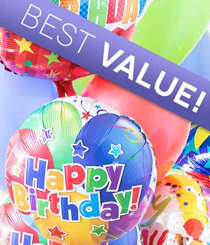 Happy Birthday Florist Designed Balloon Bouquet