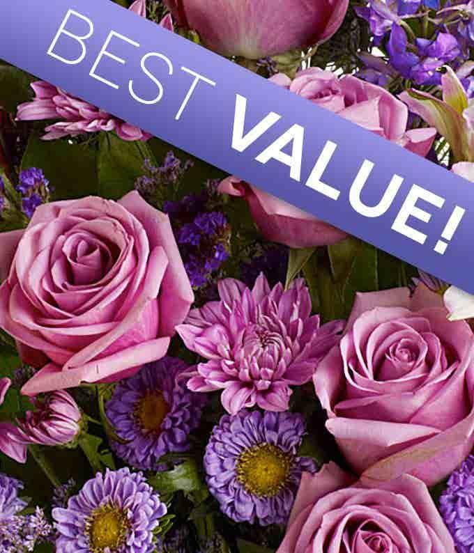 Florist Designed Purple Mother's Day Bouquet