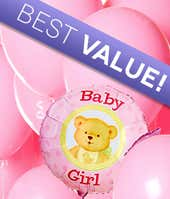 New baby girl balloons near you