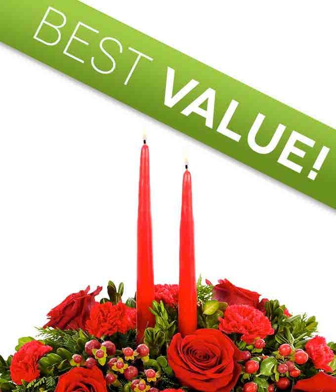 Florist Designed Christmas Centerpiece