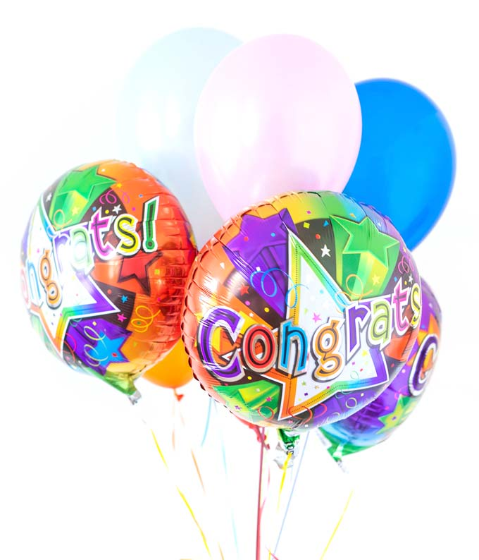 send balloons that say congratulations