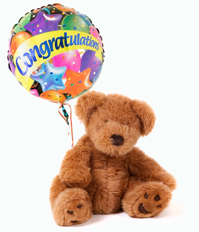 Congratulations Bear & Balloon