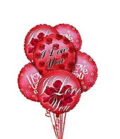 I love you mylar balloons as flowers and balloons for Valentine's Day