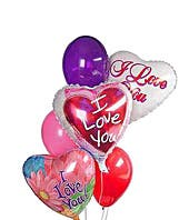 Valentine balloons that say I Love You