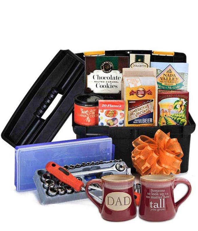 Toolbox Gift Basket For Dad With Mug