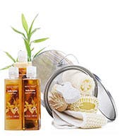 Small vanilla spa basket