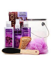 Hawaiian Orchid Spa Basket with Chocolate