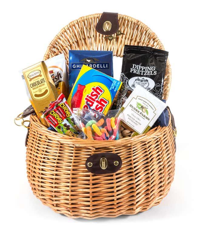 Fishing themed gift basket