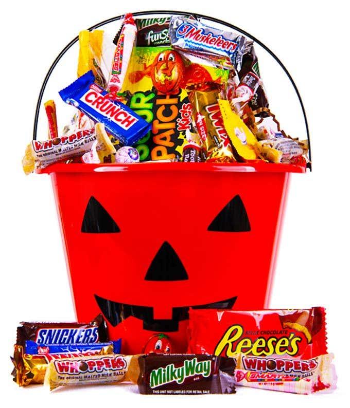 Halloween Pumpkin Candy Gift Bucket