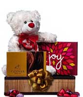 Love And Kisses Teddy Basket