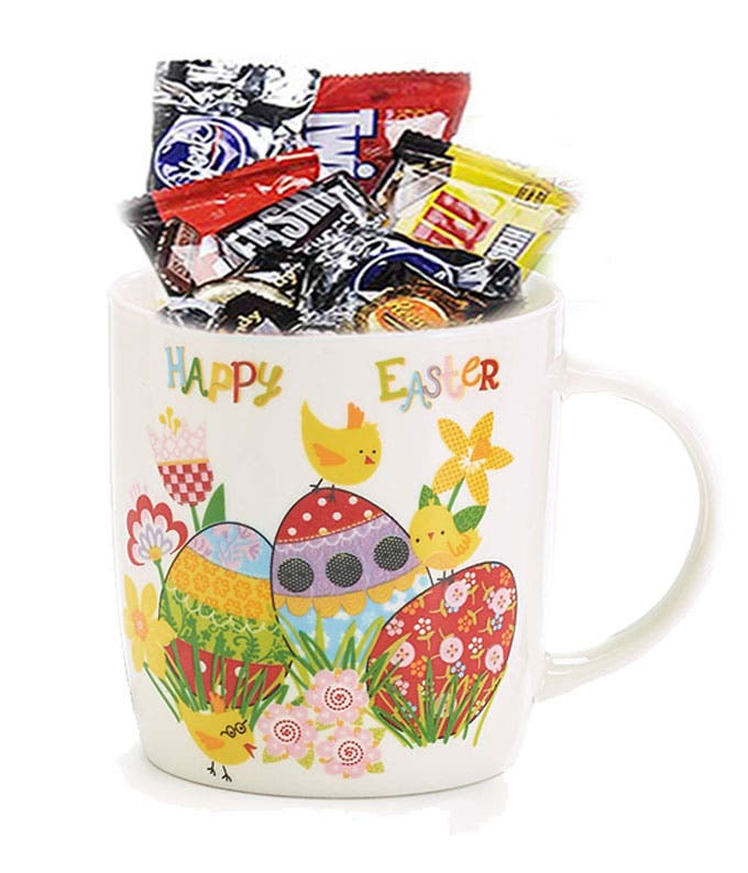 Easter mug delivered with chocolate