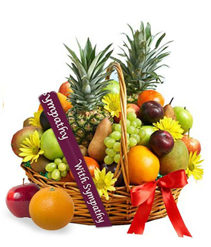 Deluxe Sympathy Fruit Basket