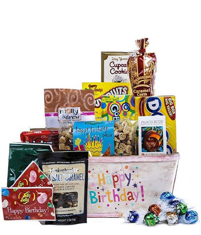 Birthday candy, popcorn, chocolate and more