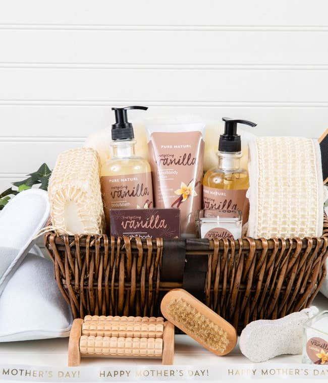 Spa Essentials For Mom Gift Basket