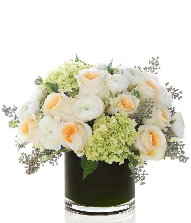 Pure Bliss Green Hydrangea Bouquet