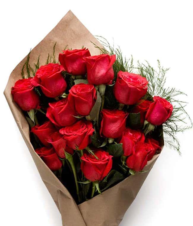 Bundle - 1 Dozen Red Roses