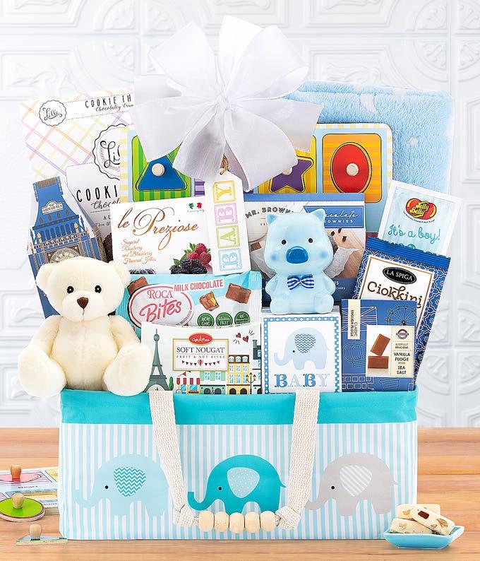 Beaming Baby Boy Gift Basket
