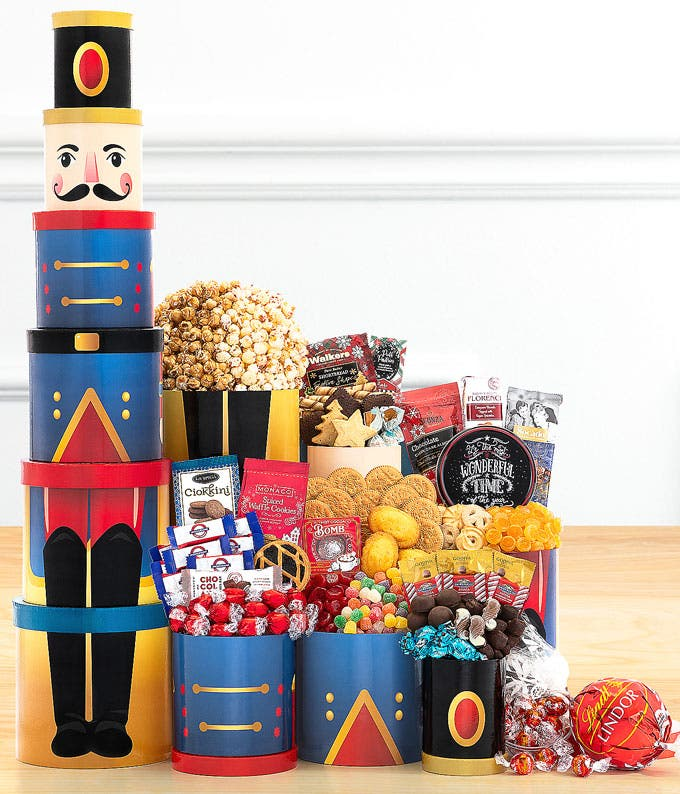 Smiling Snowman Holiday Tower