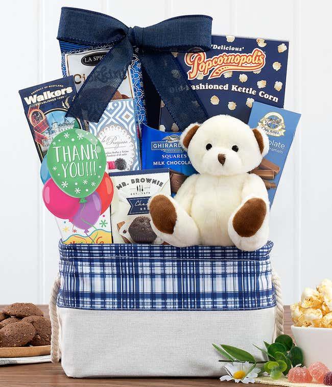 Big Bear Hug Thank You Gift Basket