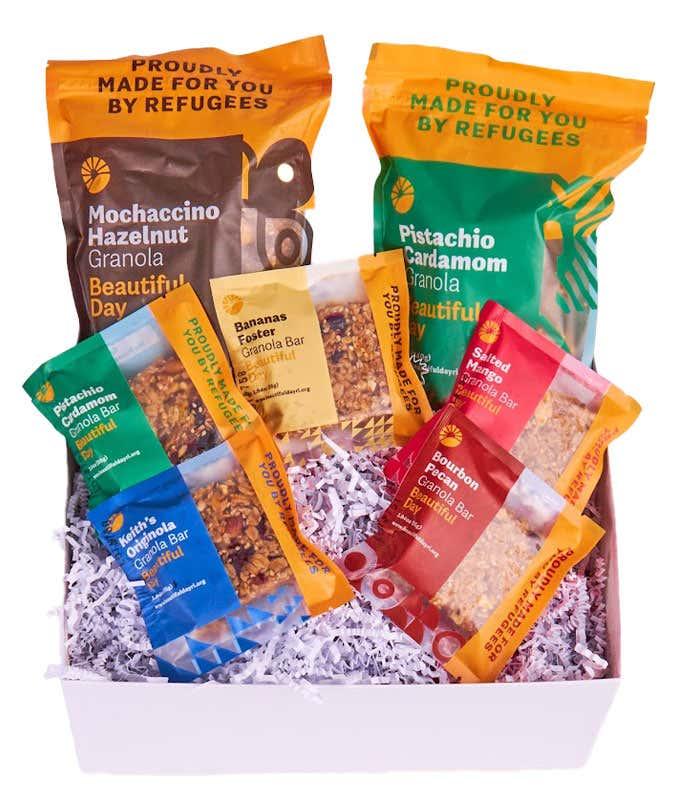 Variety granola gift basket